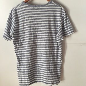 Zara Shirts - Zara Man Striped V-Neck T-Shirt